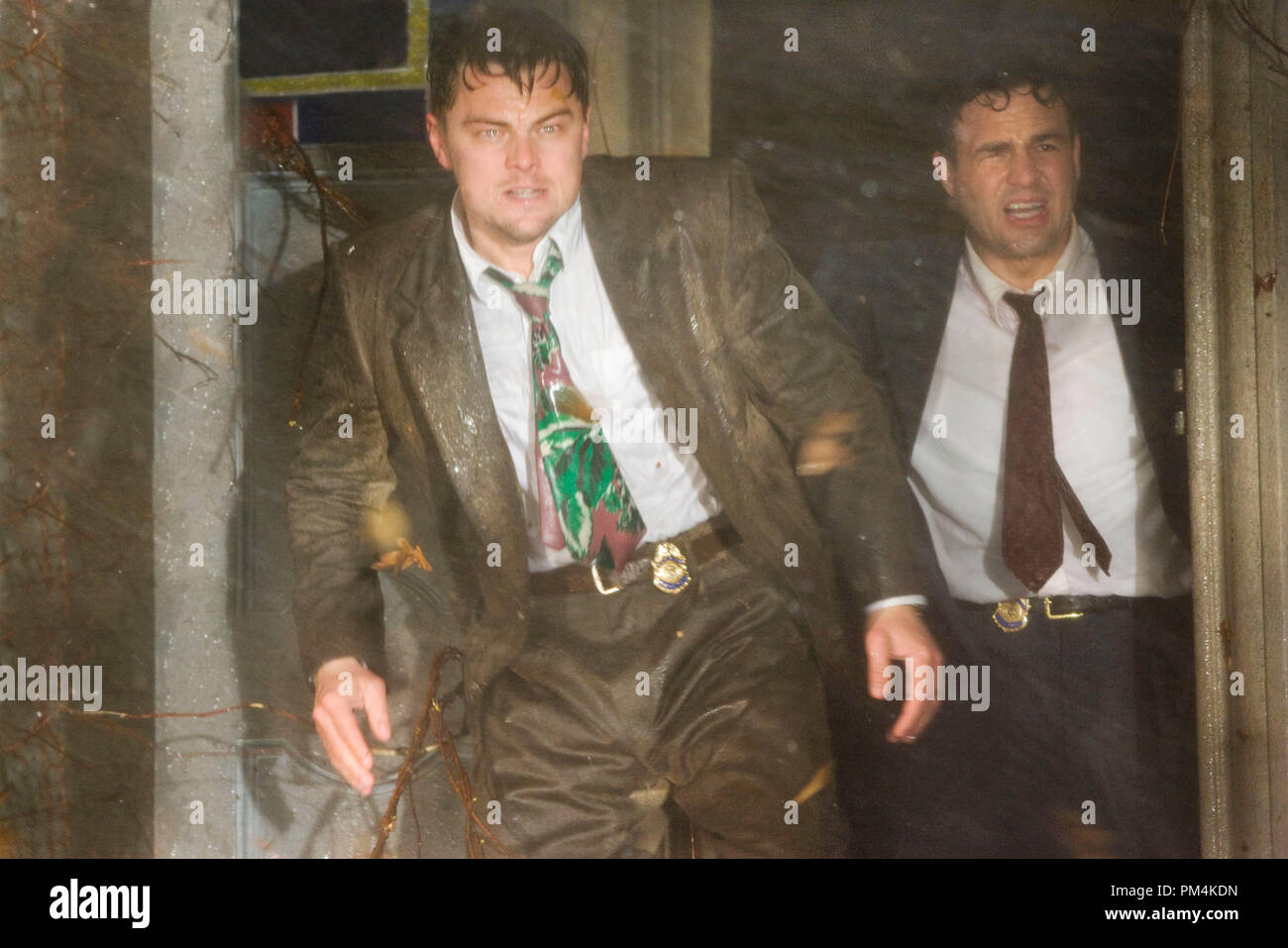Teddy Daniels (Leonardo DiCaprio) is a detective sent from the mainland to - Stock Image