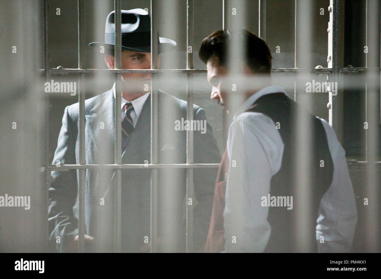 'Public Enemies' Johnny Depp and Christian Bale - Stock Image