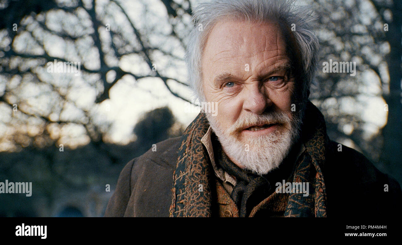 ANTHONY HOPKINS stars as Sir John Talbot in the action-horror inspired by the classic Universal film that launched a legacy of horror, The Wolfman. Stock Photo