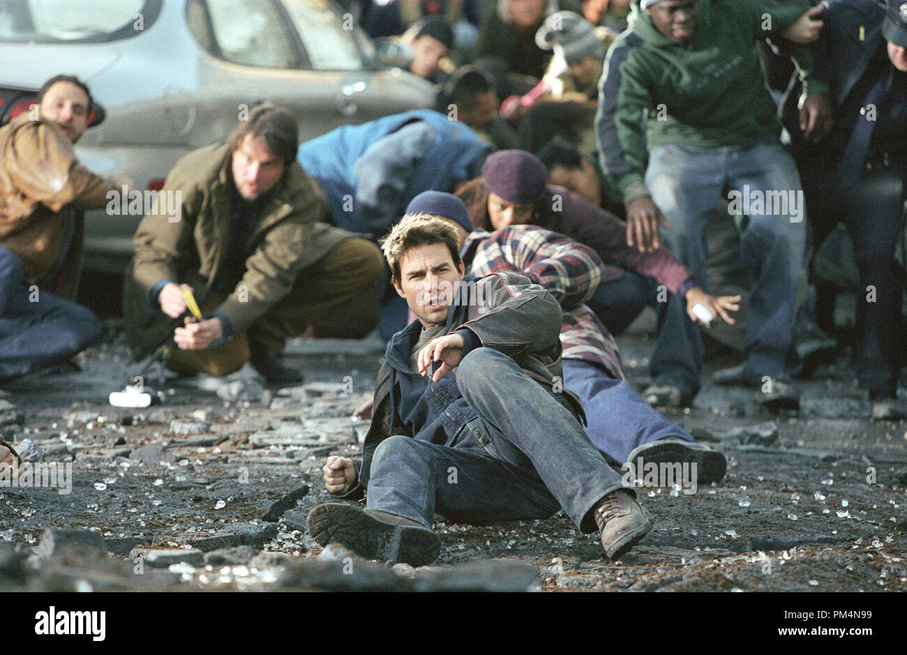 'War of the Worlds'  Tom Cruise  © 2005 Dream Works - Stock Image