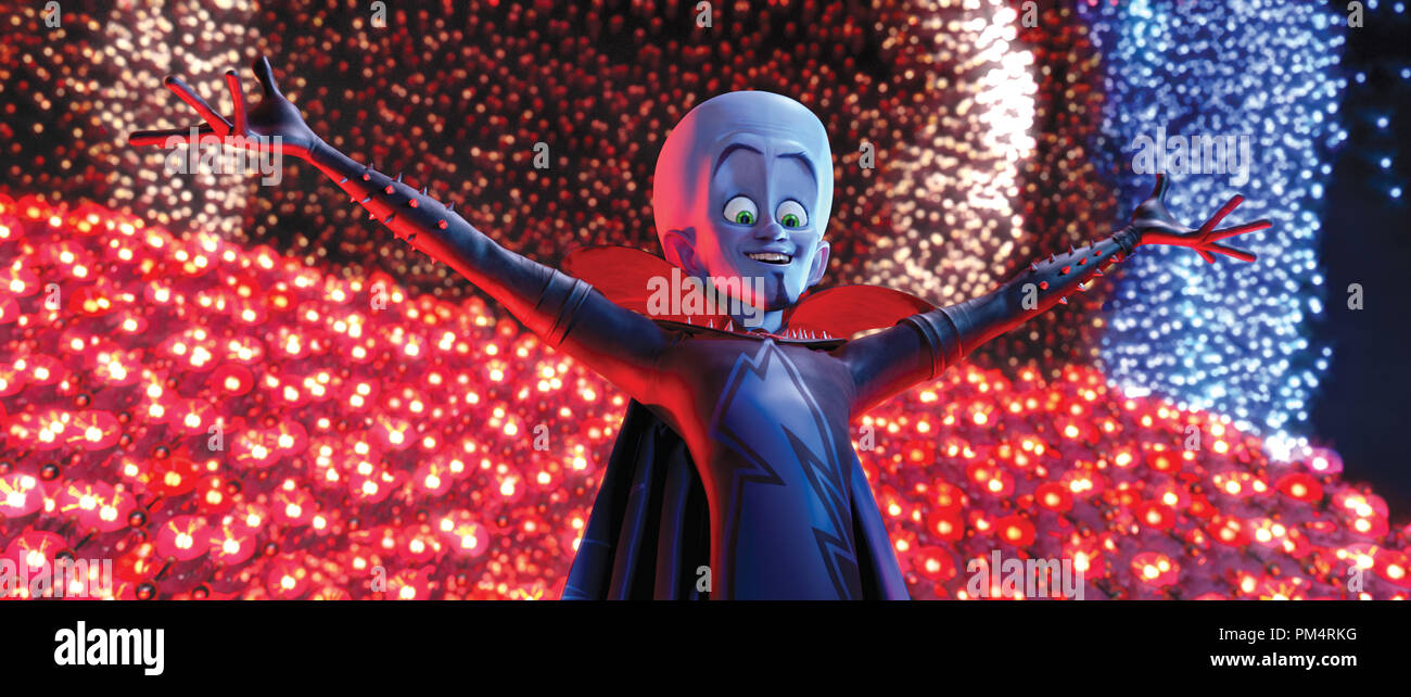 'Megamind' 2010 Megamind (Will Ferrell) is master of all he sees - Stock Image