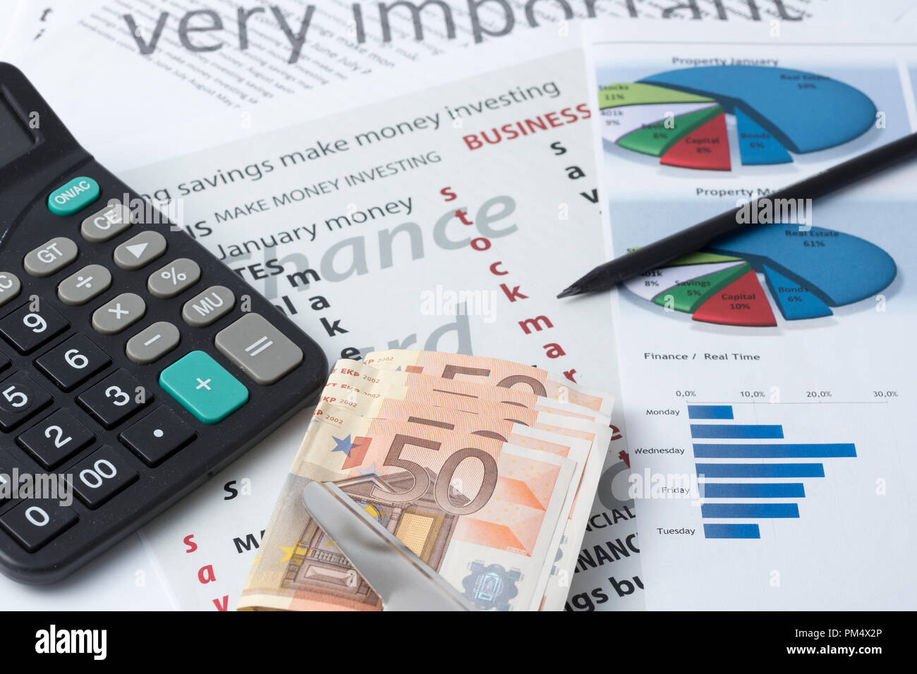 seek a best stock market investment - Stock Image