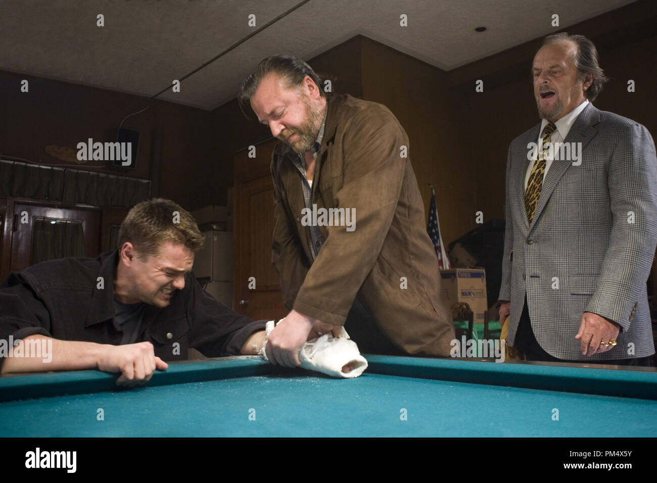 """Studio Publicity Still from """"The Departed"""" Leonardo DiCaprio, Jack Nicholson, Ray Winstone © 2006 Warner Photo credit: Andrew Cooper   File Reference # 307372361THA  For Editorial Use Only -  All Rights Reserved Stock Photo"""