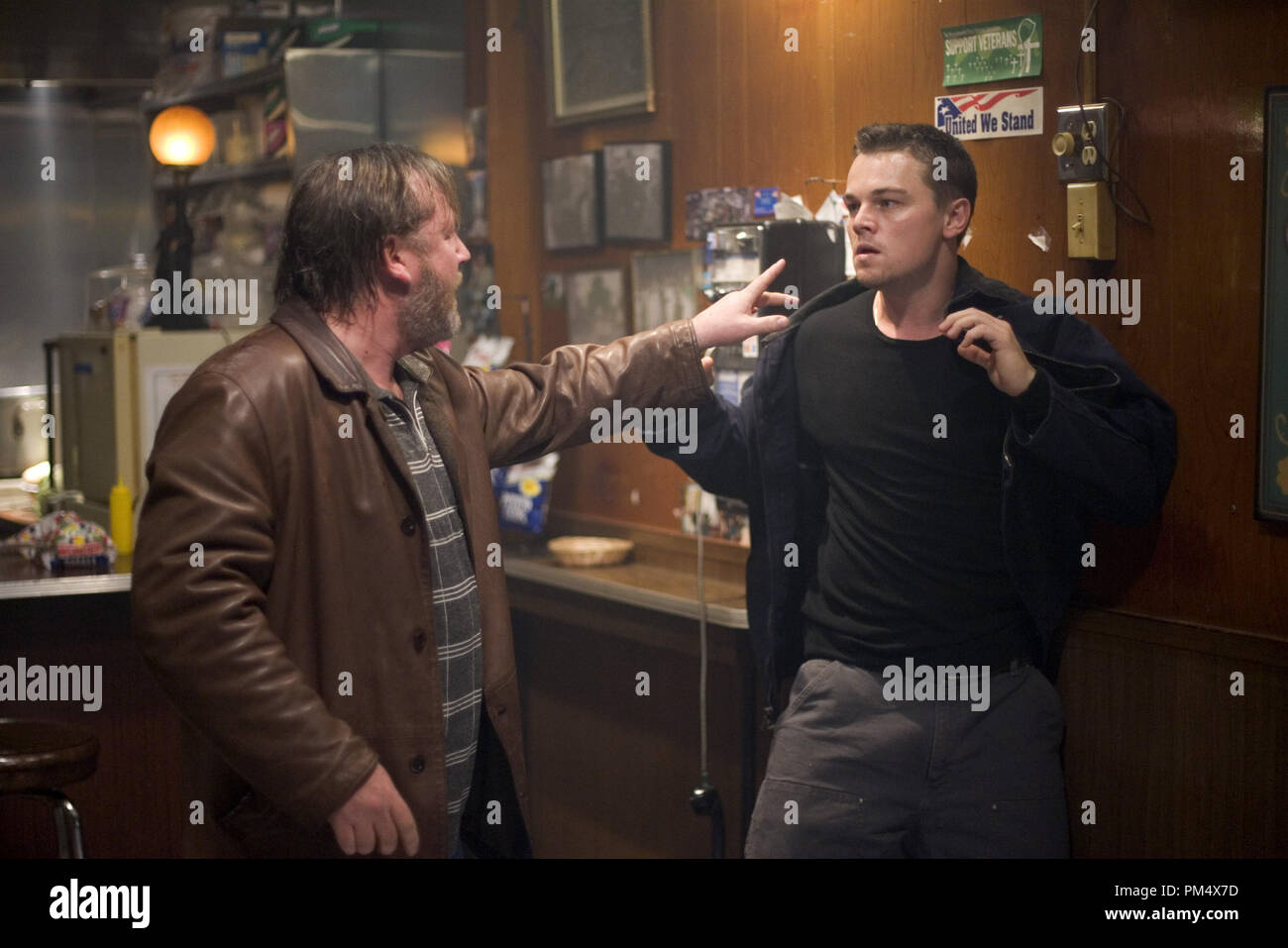 Studio Publicity Still from 'The Departed' Ray Winstone, Leonardo DiCaprio © 2006 Warner Photo credit: Andrew Cooper   File Reference # 307372376THA  For Editorial Use Only -  All Rights Reserved - Stock Image