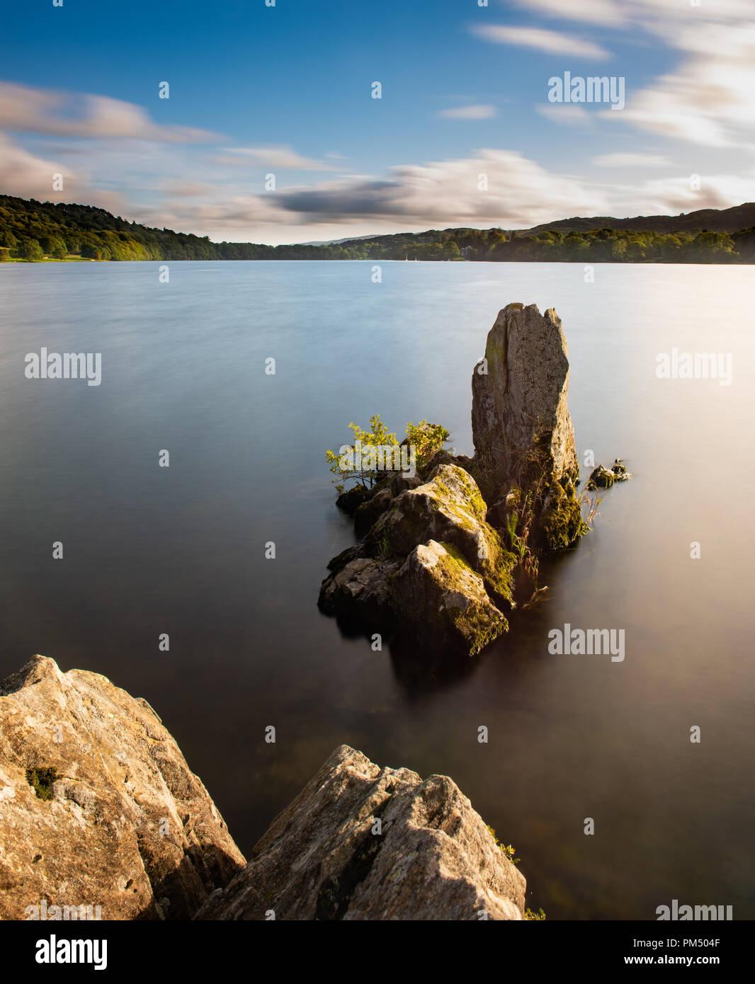 Coniston Water Long Exposure Stock Photo