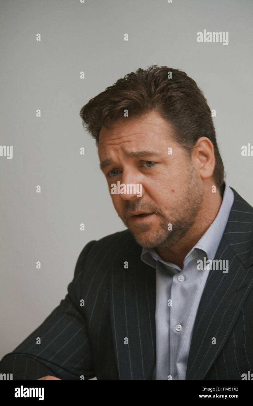 Russell Crowe 'Robin Hood'  Portrait Session, April 23, 2010.  Reproduction by American tabloids is absolutely forbidden. File Reference # 30191_005JRC  For Editorial Use Only -  All Rights Reserved - Stock Image