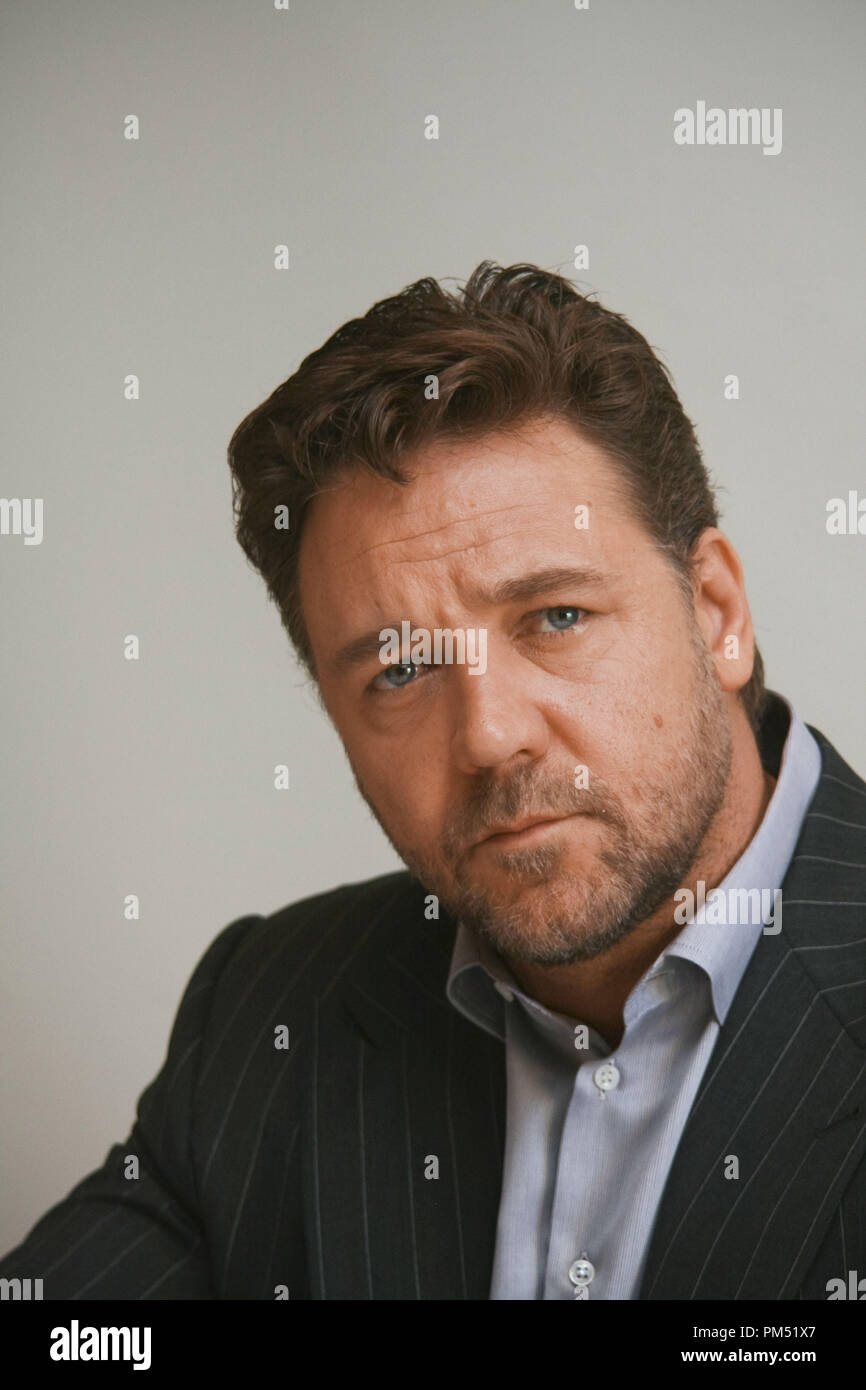 Russell Crowe 'Robin Hood'  Portrait Session, April 23, 2010.  Reproduction by American tabloids is absolutely forbidden. File Reference # 30191_010JRC  For Editorial Use Only -  All Rights Reserved - Stock Image