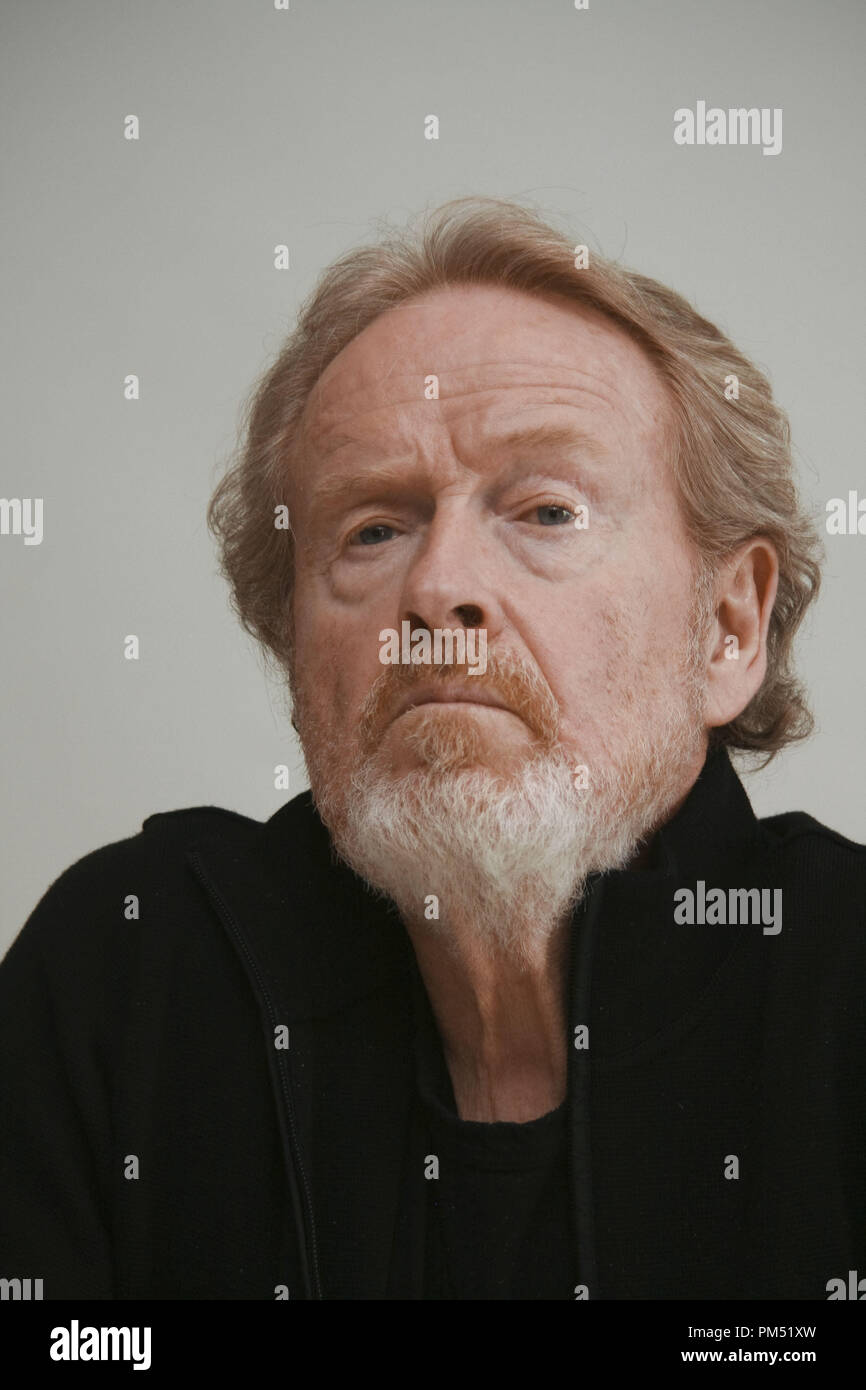 Ridley Scott 'Robin Hood'  Portrait Session, April 23, 2010.  Reproduction by American tabloids is absolutely forbidden. File Reference # 30191_024JRC  For Editorial Use Only -  All Rights Reserved - Stock Image