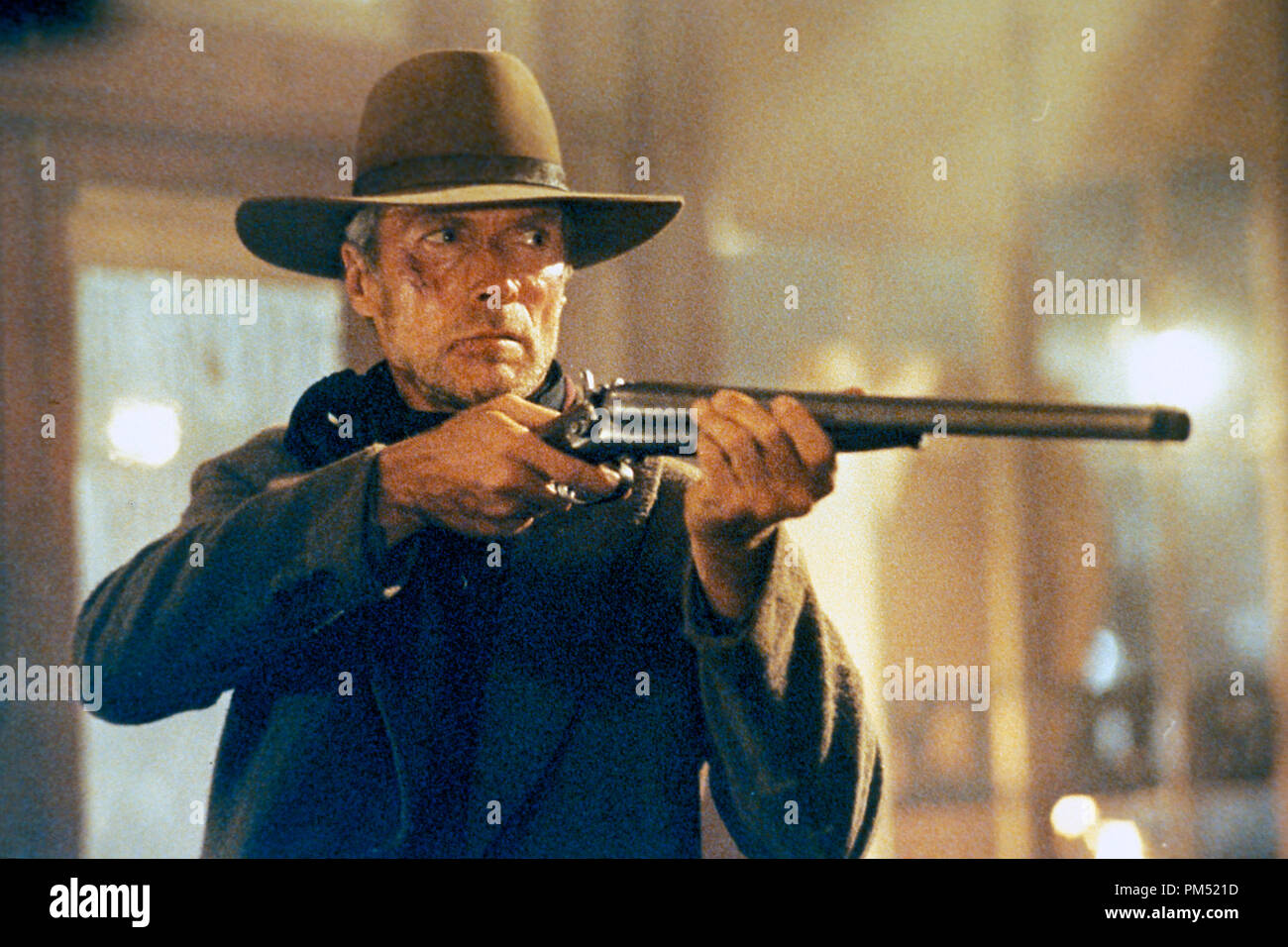 Film Still from 'Unforgiven' Clint Eastwood © 1992 Warner Brothers - Stock Image
