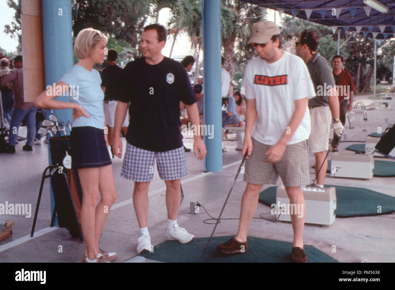 'There's Something About Mary' 1998 Cameron Diaz with director's Bobby and Peter Farrelly - Stock Image