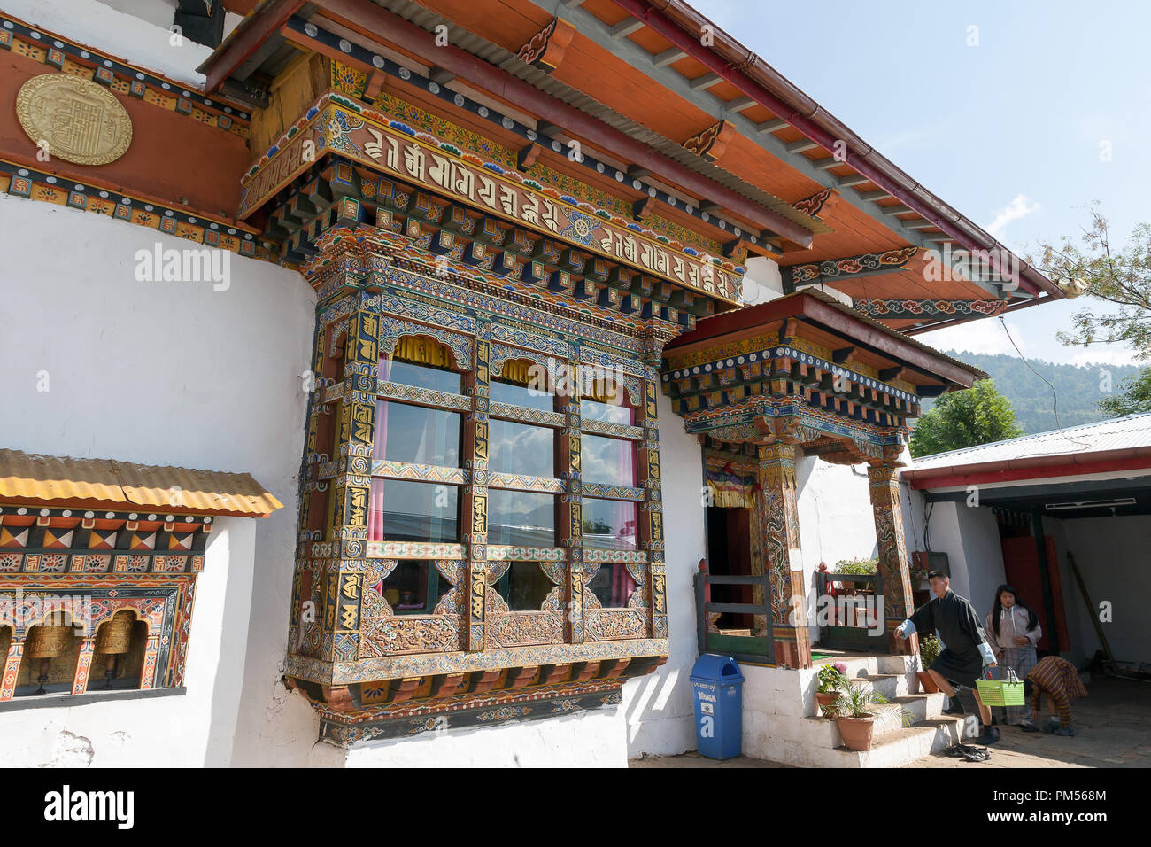 Chimi Lhakhang Temple, is also known as the temple of fertility. Bhutan. - Stock Image