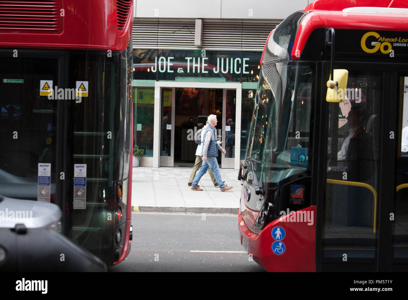 Joe and the juice, restaurant, London - Stock Image