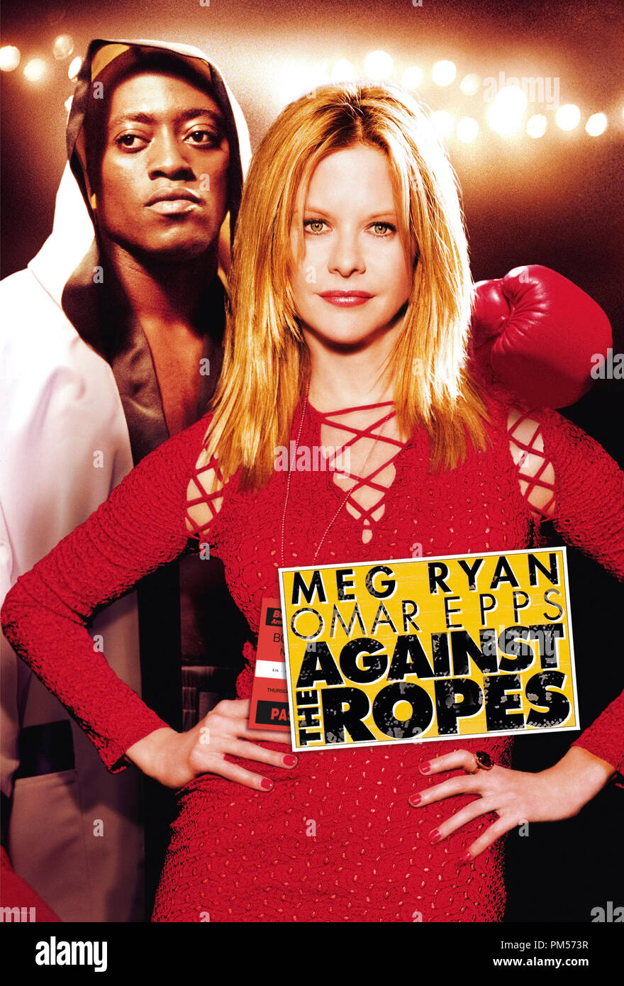 Poster Art from 'Against the Ropes' Poster Meg Ryan and Omar Epps © 2004 Paramount File Reference # 307351497THA  For Editorial Use Only -  All Rights Reserved - Stock Image