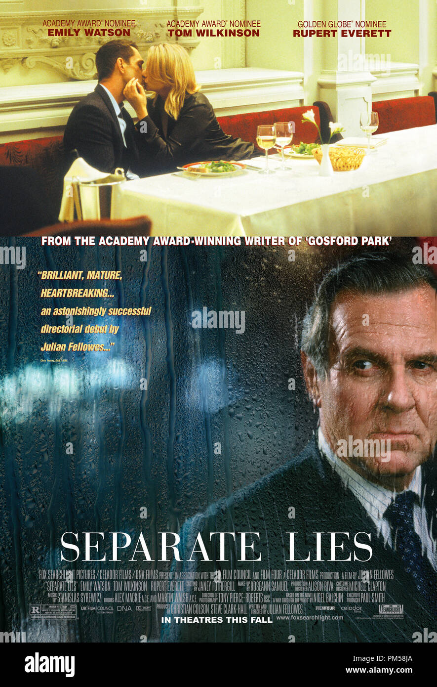 Poster Art from 'Separate Lies' Poster © 2005 Twentieth Century Fox   File Reference # 30736179THA  For Editorial Use Only -  All Rights Reserved - Stock Image