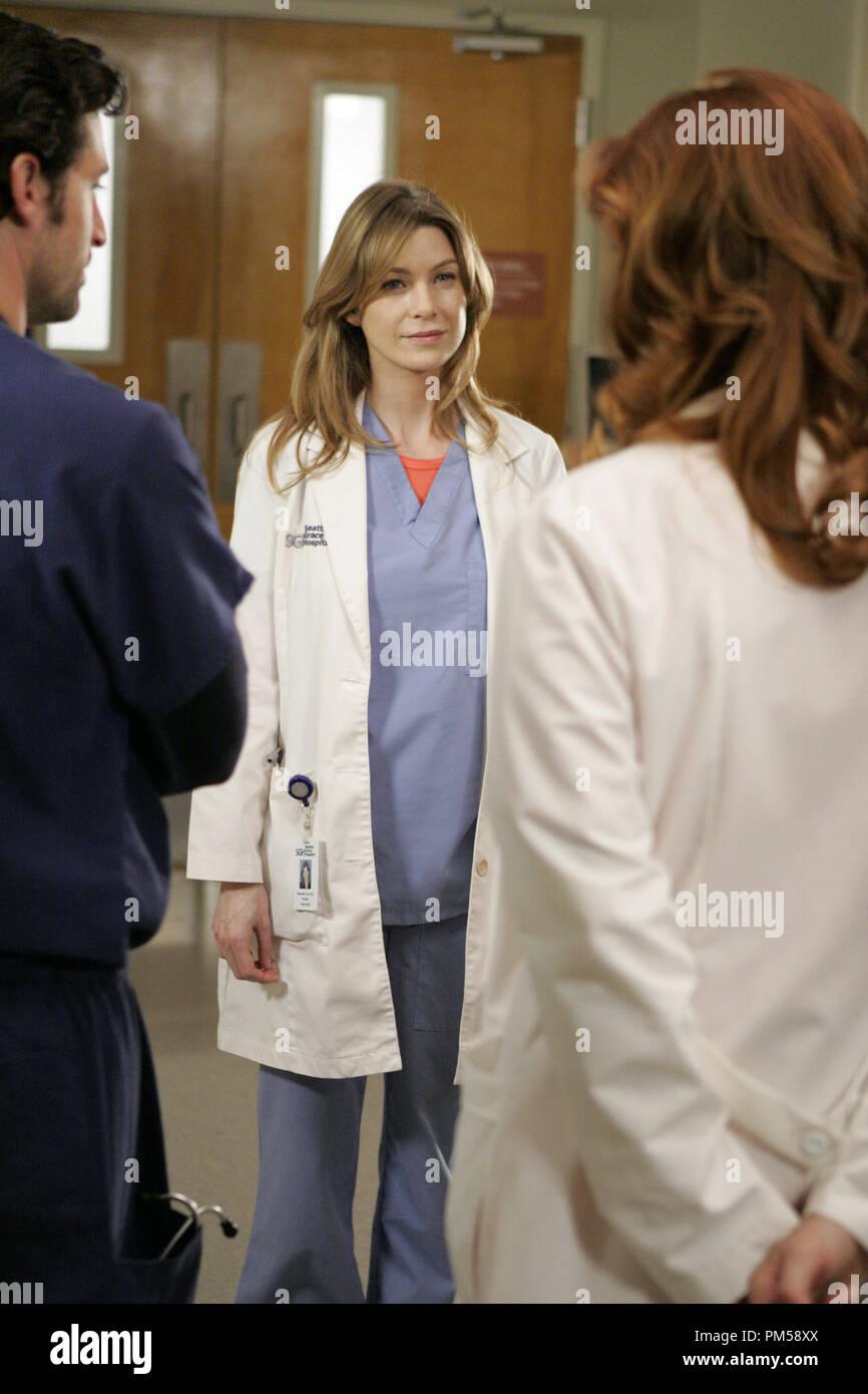 Studio Publicity Still From Greys Anatomy Patrick Dempsey Ellen