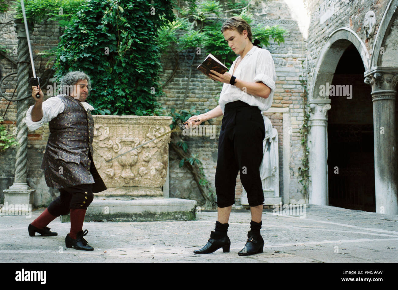 Studio Publicity Still from 'Casanova' Omid Djalili, Heath Ledger © 2005 Touchstone Pictures Photo by Doane Gregory   File Reference # 307362261THA  For Editorial Use Only -  All Rights Reserved - Stock Image