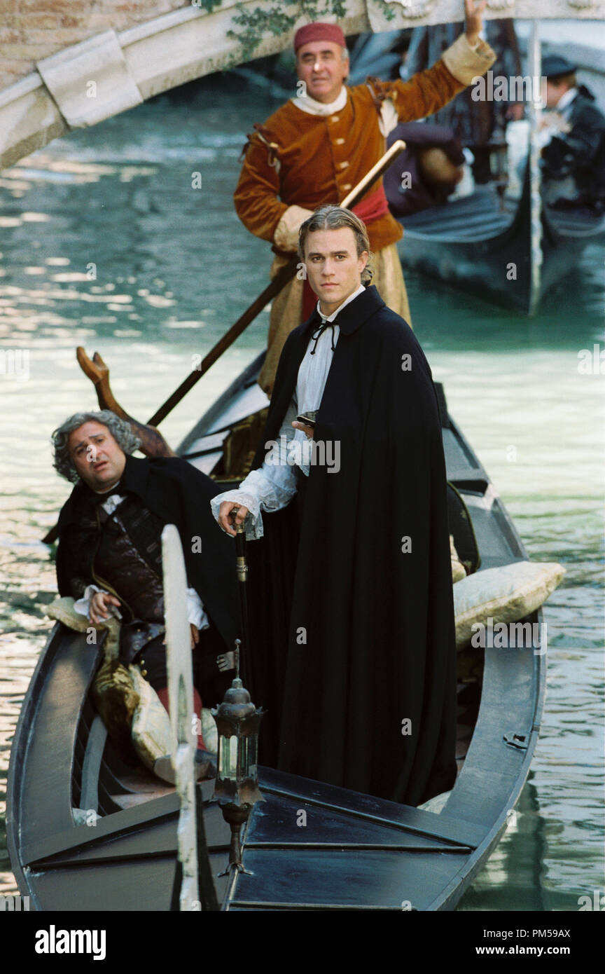 Studio Publicity Still from 'Casanova' Omid Djalili, Heath Ledger © 2005 Touchstone Pictures Photo by Doane Gregory   File Reference # 307362262THA  For Editorial Use Only -  All Rights Reserved - Stock Image