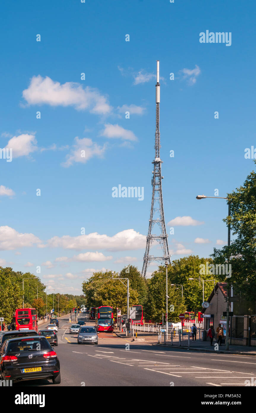 Crystal Palace Parade and TV aerial. - Stock Image