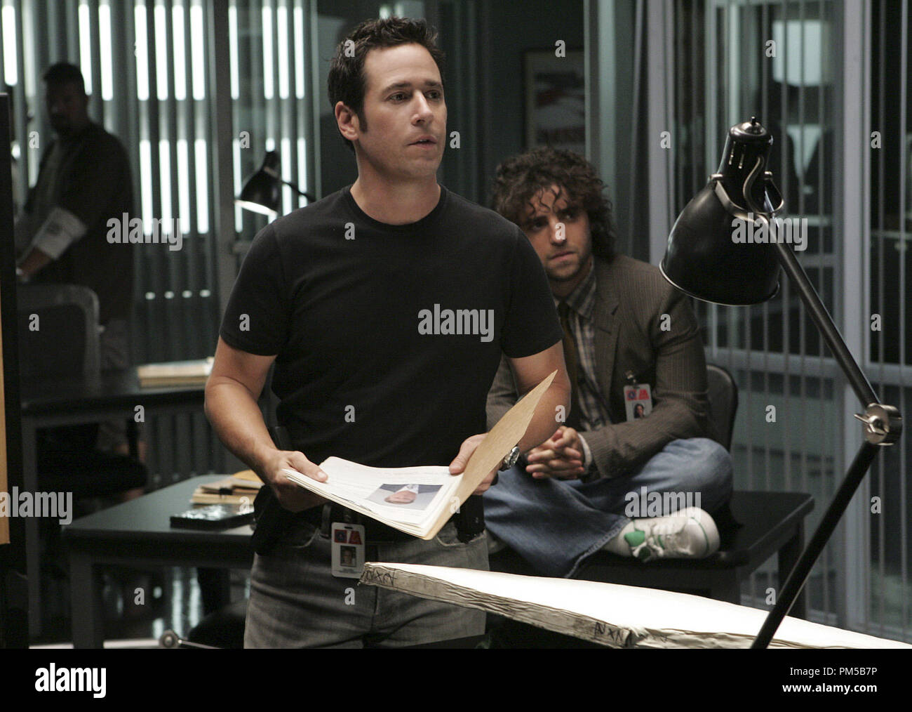 Film Still from 'Numb3rs' (Episode: Trust Metric) Rob Morrow, David Krumholtz 2007 Photo Credit: Robert Voets       File Reference # 30738491THA  For Editorial Use Only -  All Rights Reserved - Stock Image