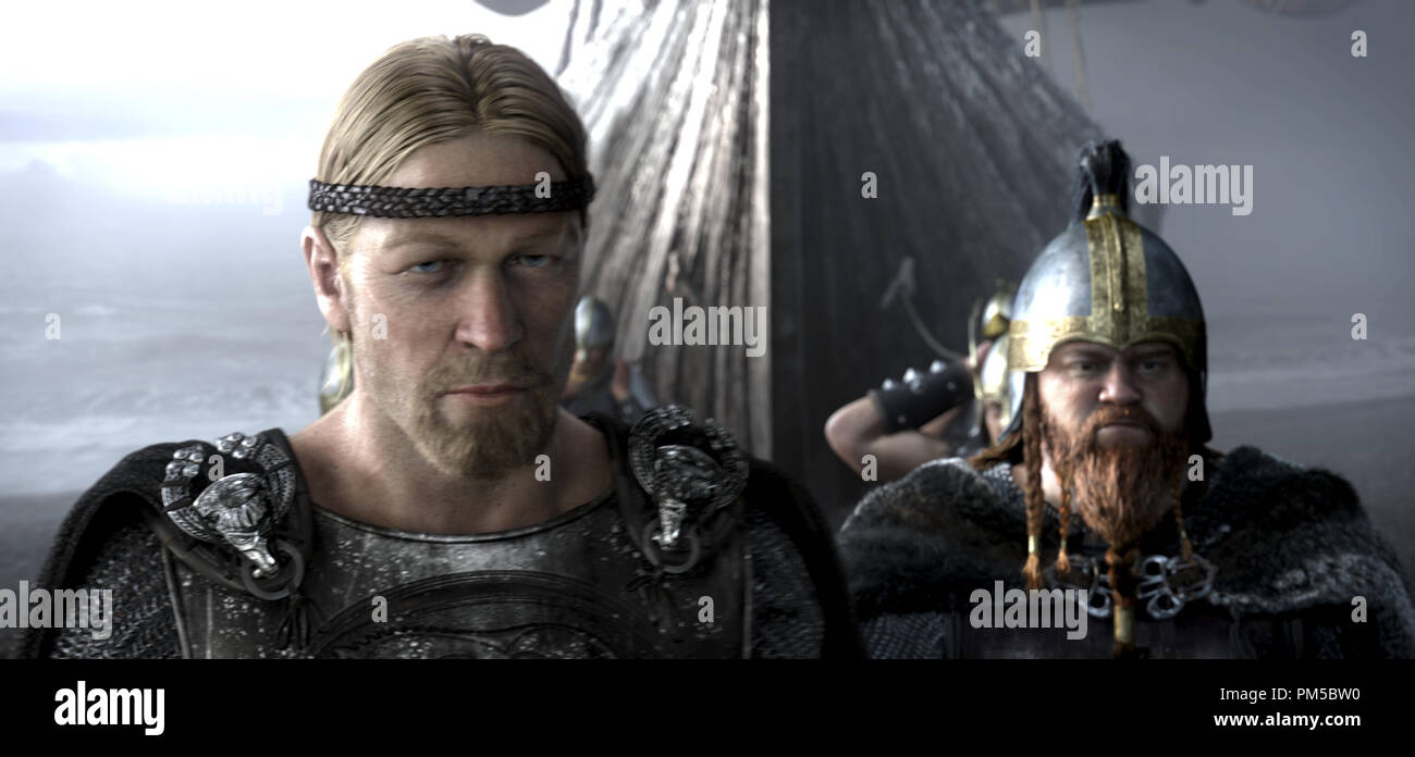 Studio Publicity Still from 'Beowulf' Beowulf, Wiglaf  © 2007 Warner    File Reference # 30738777THA  For Editorial Use Only -  All Rights Reserved - Stock Image