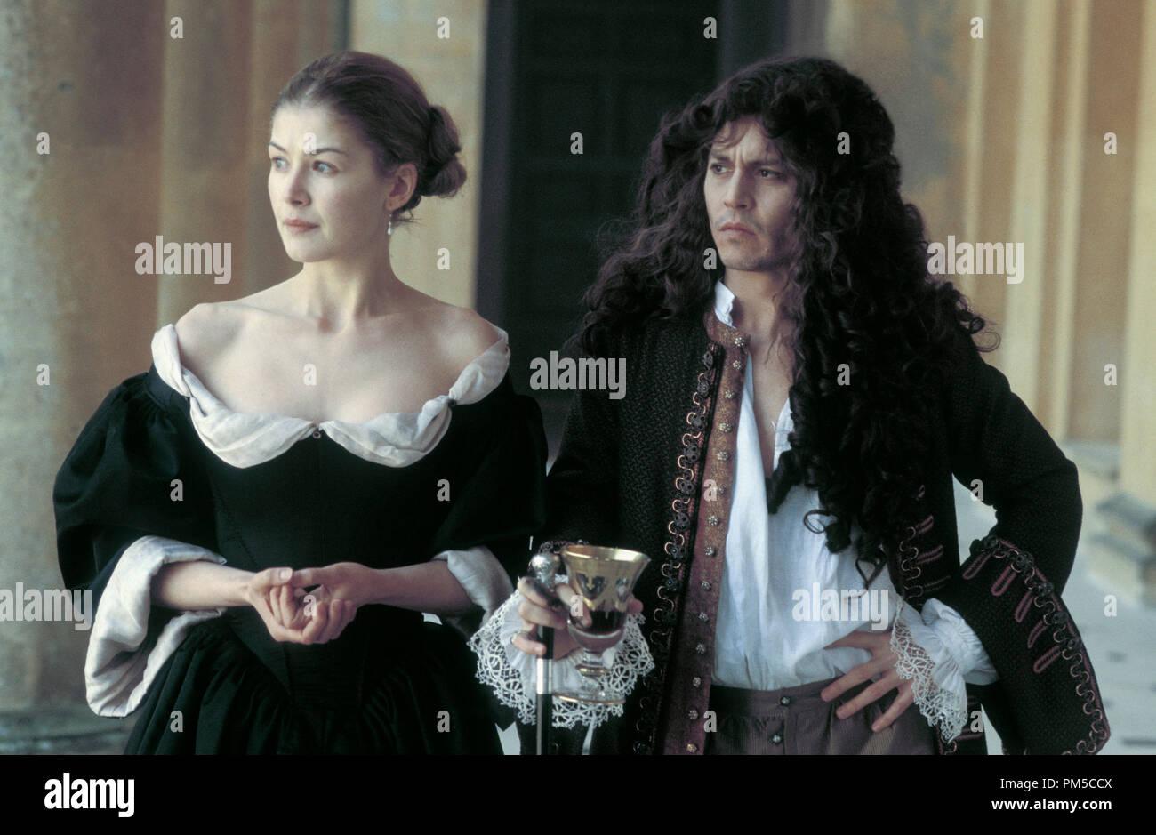 Film Still from 'The Libertine' Rosamund Pike, Johnny Depp © 2004 Miramax Films - Stock Image