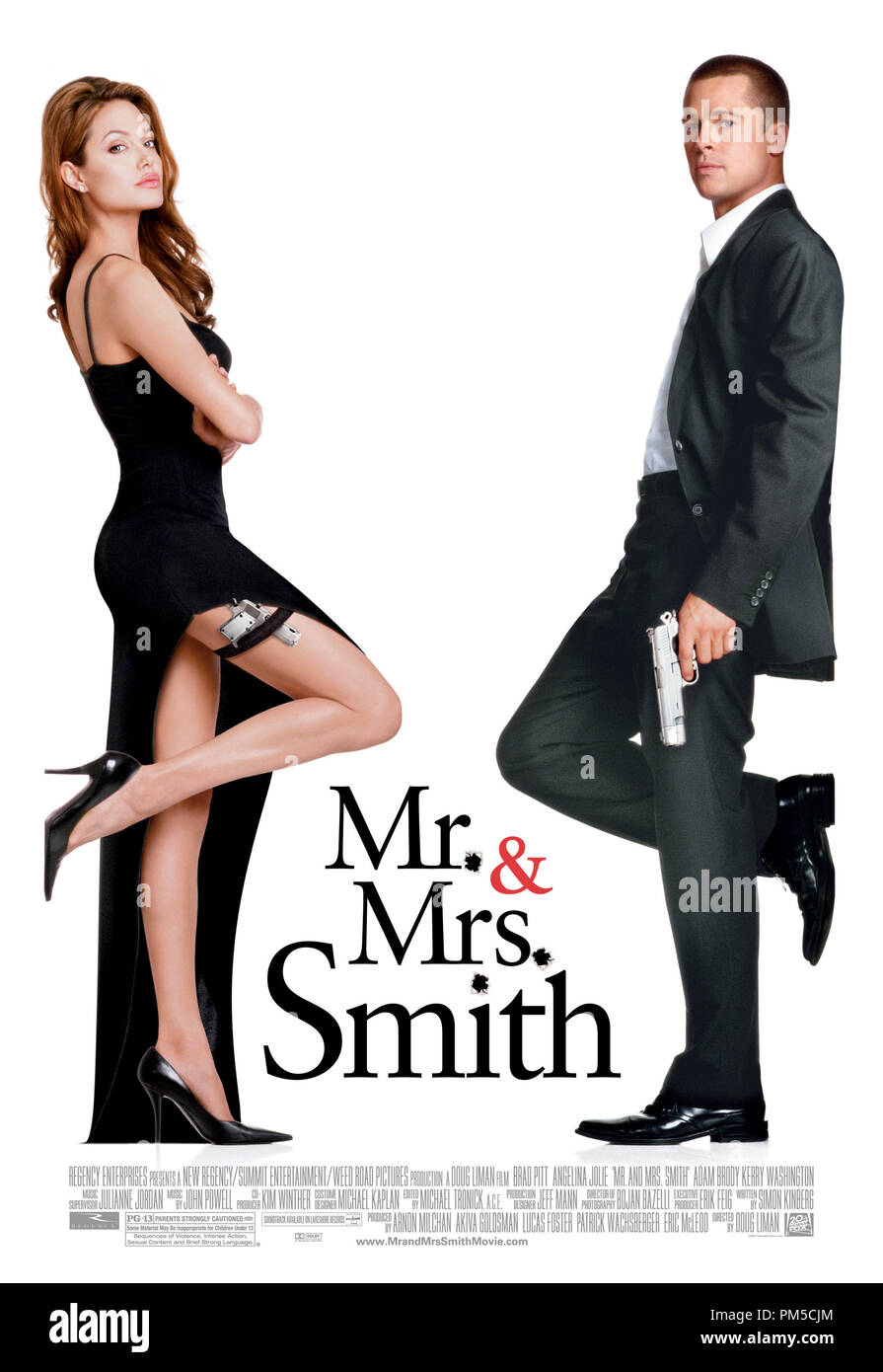 Poster Art from 'Mr. & Mrs. Smith' Poster Angelina Jolie, Brad Pitt © 2005 20th Century Fox  File Reference # 307361102THA  For Editorial Use Only -  All Rights Reserved - Stock Image