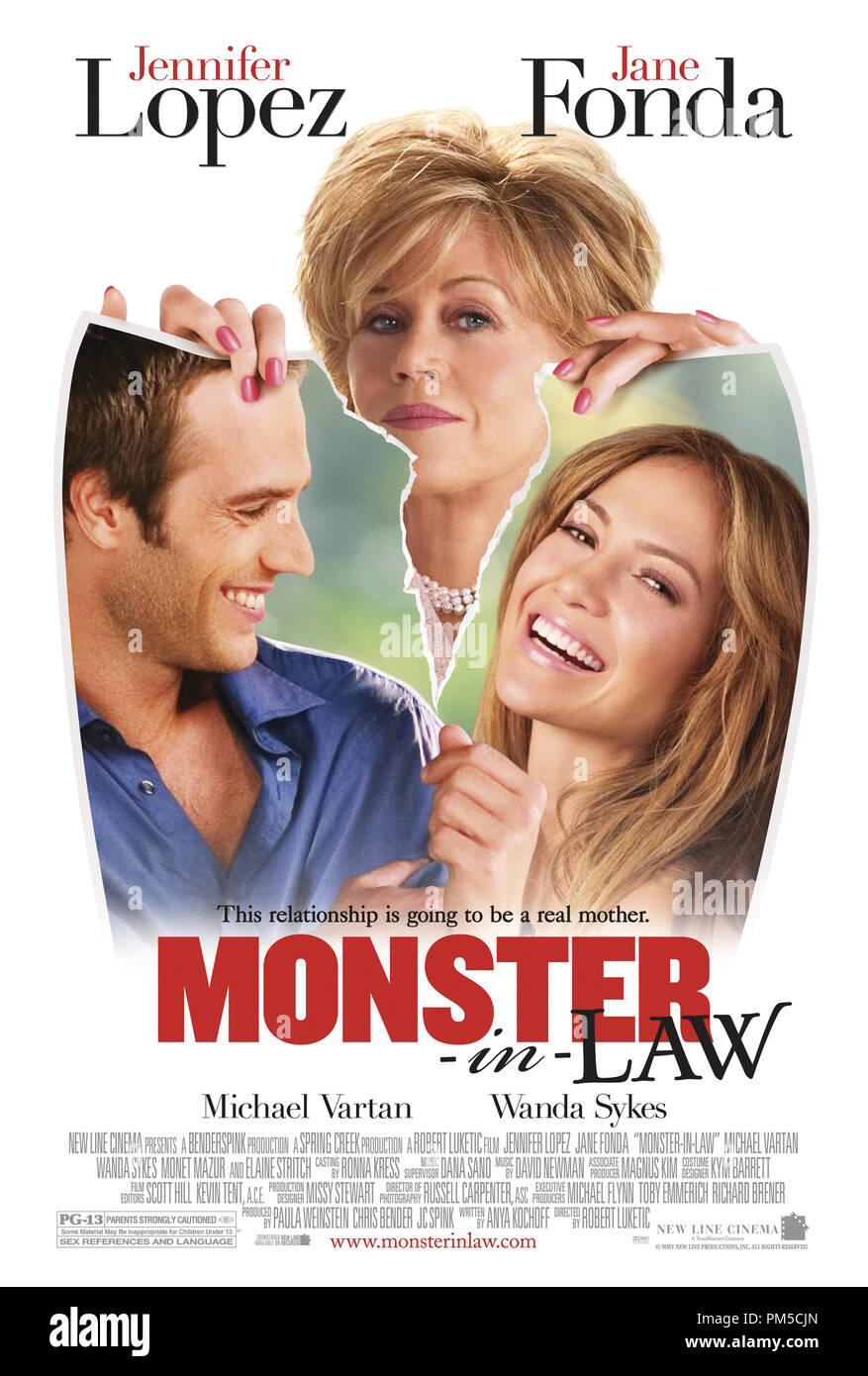 Poster Art from 'Monster-in-Law' Poster © 2005 New Line Productions   File Reference # 307361103THA  For Editorial Use Only -  All Rights Reserved - Stock Image