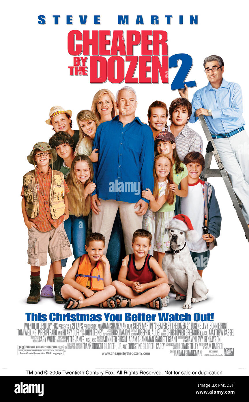 Poster Art from 'Cheaper by the Dozen 2' Poster © 2005 Twentieth Century Fox   File Reference # 307361399THA  For Editorial Use Only -  All Rights Reserved - Stock Image