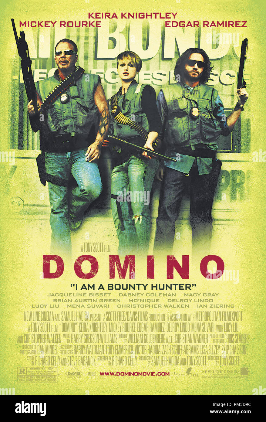 Poster Art from 'Domino' Poster © 2005 New Line Cinema   File Reference # 30736265THA  For Editorial Use Only -  All Rights Reserved - Stock Image