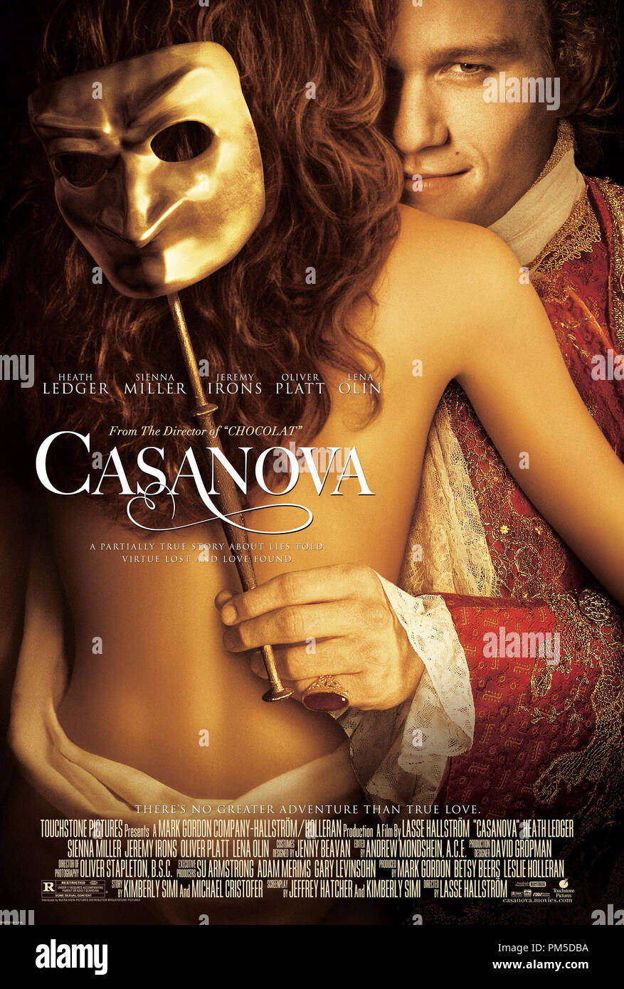 Poster Art from 'Casanova' Poster © 2005 Touchstone Pictures   File Reference # 30736306THA  For Editorial Use Only -  All Rights Reserved - Stock Image