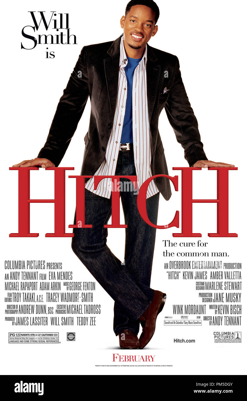 'Hitch' Poster © 2005 Columbia Pictures  File Reference # 30736412THA  For Editorial Use Only -  All Rights Reserved - Stock Image