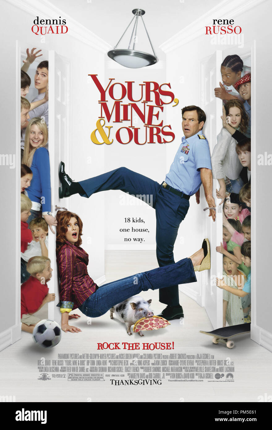 Poster Art from 'Yours, Mine and Ours' Poster © 2005 Paramount Pictures   File Reference # 30736762THA  For Editorial Use Only -  All Rights Reserved - Stock Image