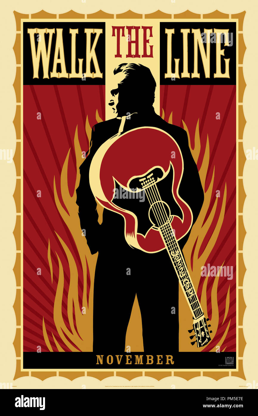 Poster Art from 'Walk the Line' Poster © 2005 20th Century Fox   File Reference # 30736792THA  For Editorial Use Only -  All Rights Reserved - Stock Image