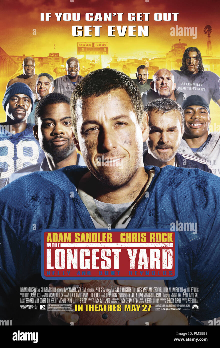 Poster Art from 'The Longest Yard' Poster © 2005 Paramount Pictures   File Reference # 30736878THA  For Editorial Use Only -  All Rights Reserved - Stock Image