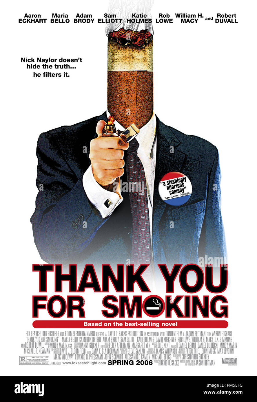 Poster Art from 'Thank You for Smoking' Poster © 2005 Fox Searchlight Pictures  File Reference # 30736967THA  For Editorial Use Only -  All Rights Reserved - Stock Image
