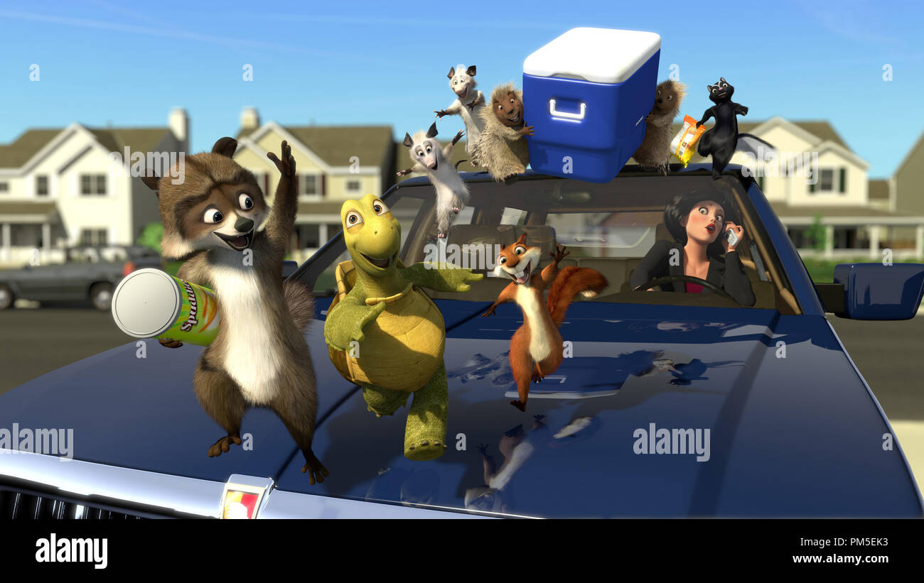 Film Still / Publicity Still from 'Over The Hedge' RJ, Verne, Hammy, Ozzie, Heather, Lou, Penny, Stella, Gladys © 2006 Dreamworks  File Reference # 30737039THA  For Editorial Use Only -  All Rights Reserved - Stock Image