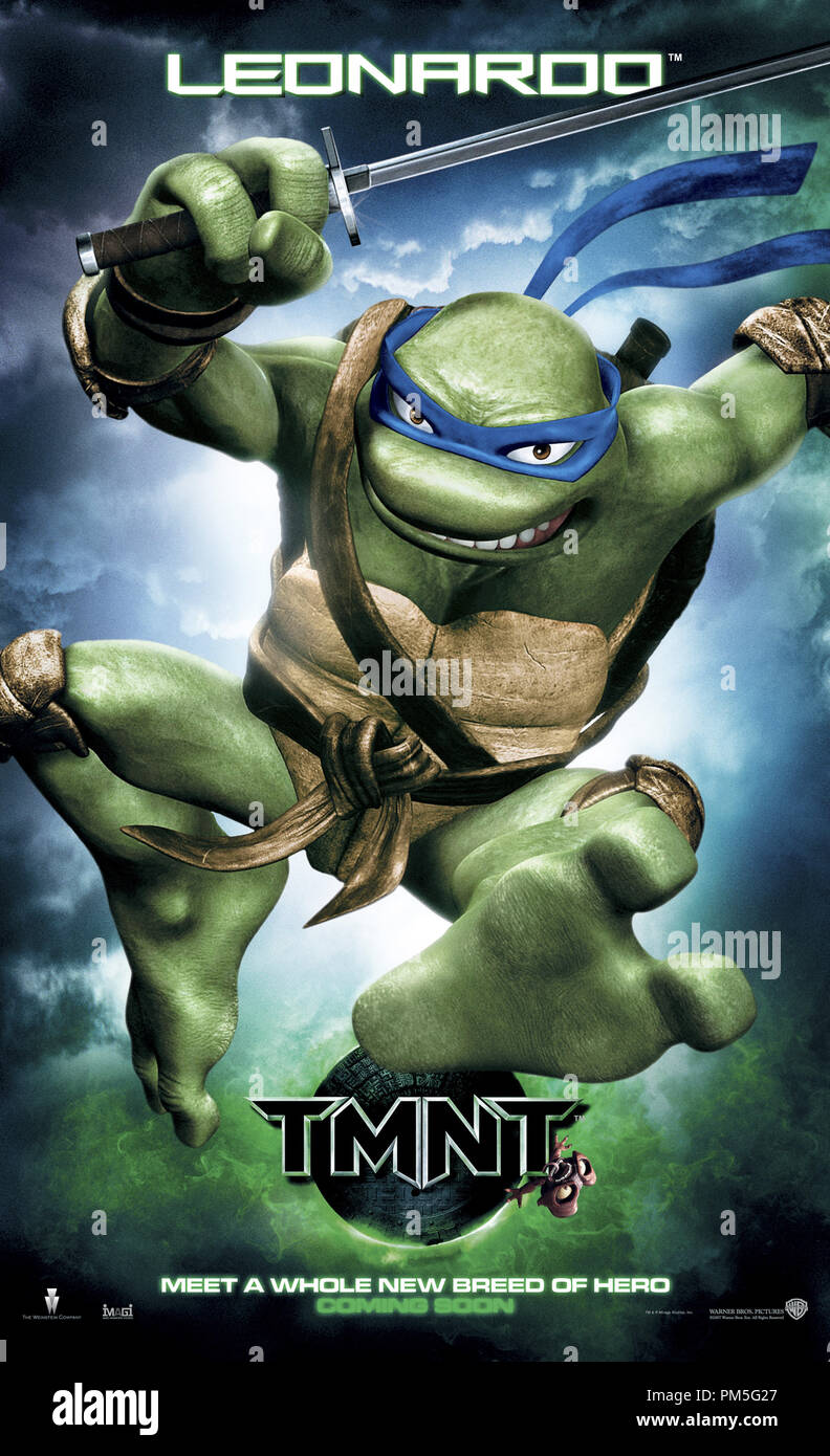 Tmnt Teenage Mutant Ninja Turtles Poster Leonardo C 2007 Warner File Reference 307381831tha For Editorial Use Only All Rights Reserved Stock Photo Alamy