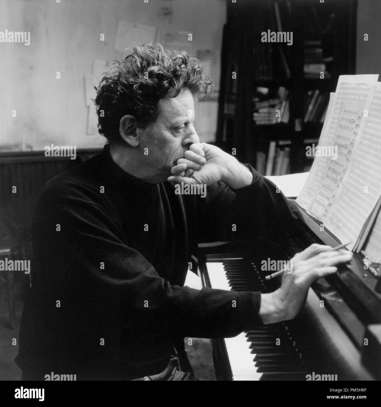 Film Still / Publicity Still from 'The Hours' Composer Phillip Glass © 2002 Paramount - Stock Image