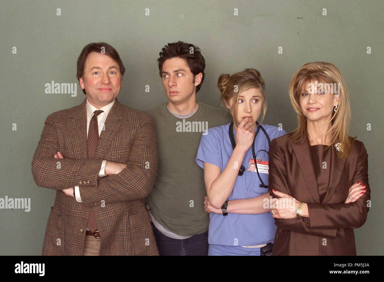 Film Still / Publicity Still from 'Scrubs' Episode: 'My Old Man' John Ritter, Zach Braff, Sarah Chalke, Markie Post April 9, 2002 Photo: Paul Drinkwater File Reference # 30754449THA  For Editorial Use Only -  All Rights Reserved - Stock Image