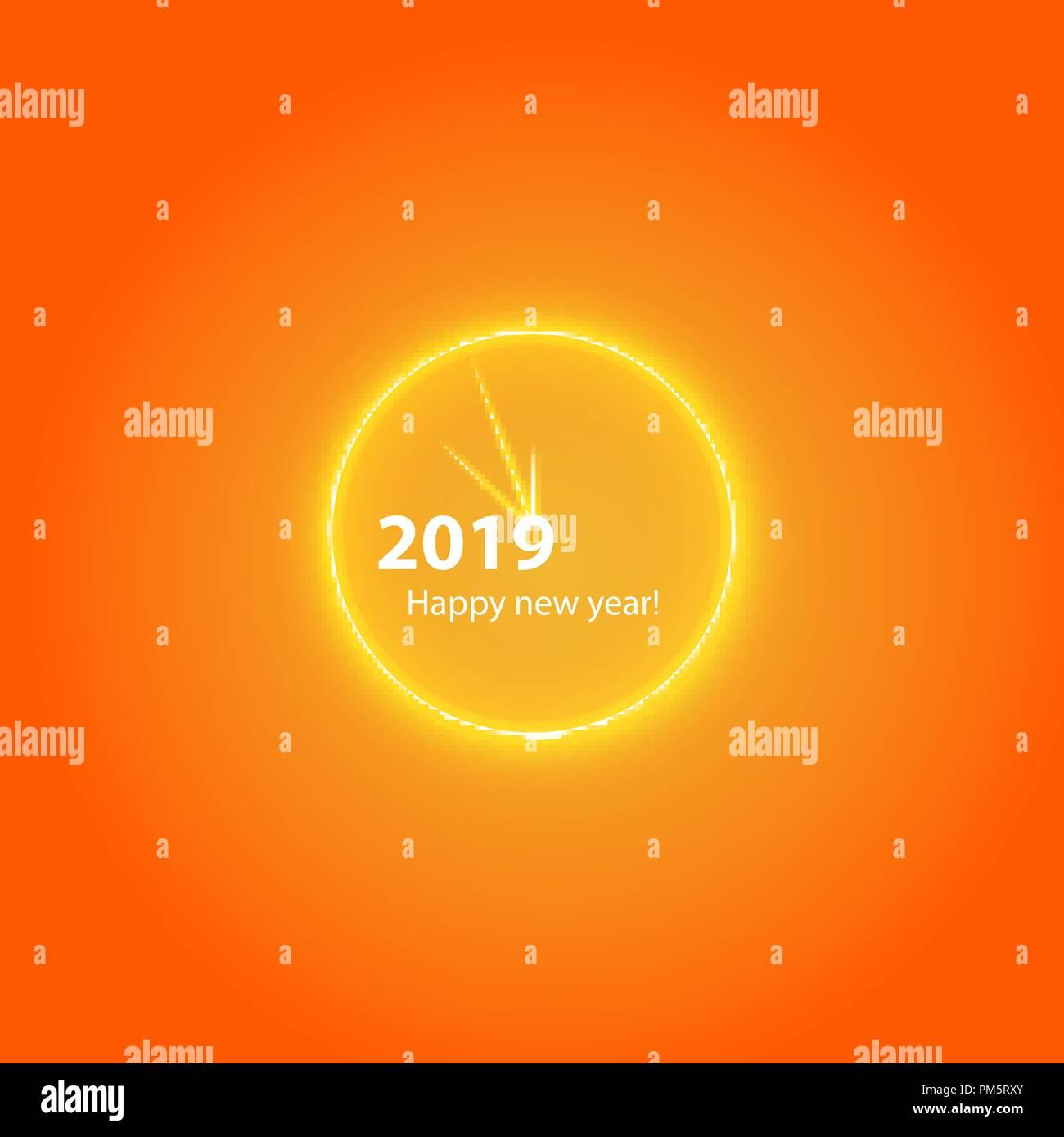 Happy New Year Orange 88