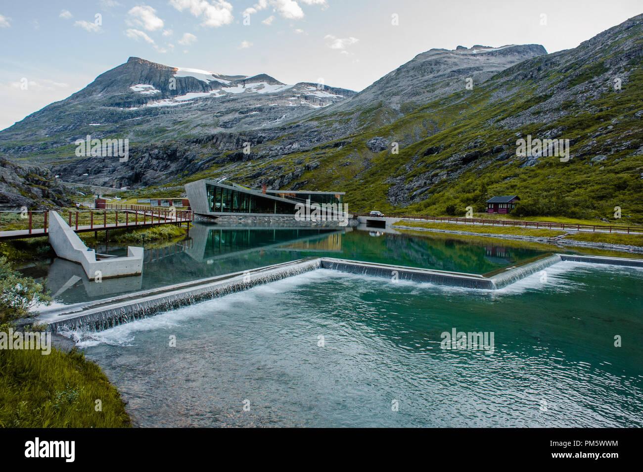 Trollstigen - mountain road in Norway. View from top - Stock Image