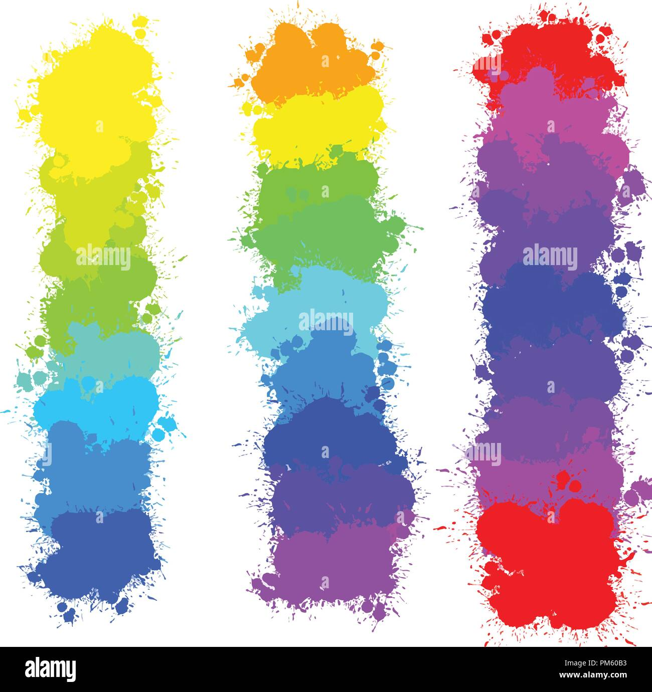 color splashes backgrounds, vector background for print decoration. CMYK color space. - Stock Image
