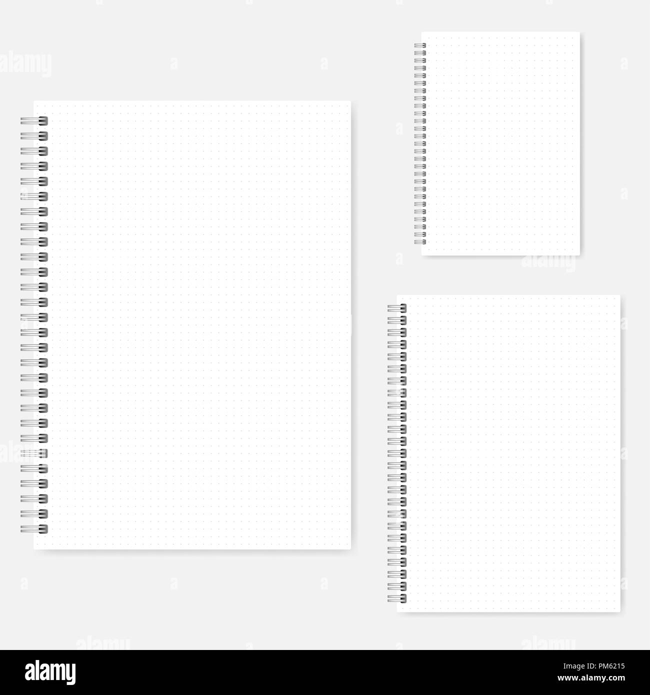Wirebound Stock Photos S Alamy. Set Of Dot Grid Notebook Vector Mockups A4 A5 A6 Size. Wiring. Woods 6215 Wiring Diagrams At Scoala.co