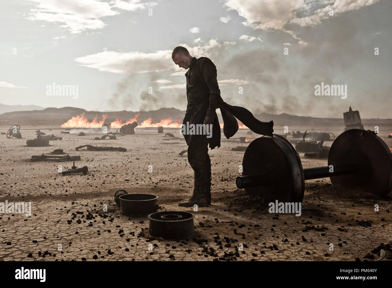 Paul Bettany stars in Screen Gems' sci-fi action thriller PRIEST. - Stock Image