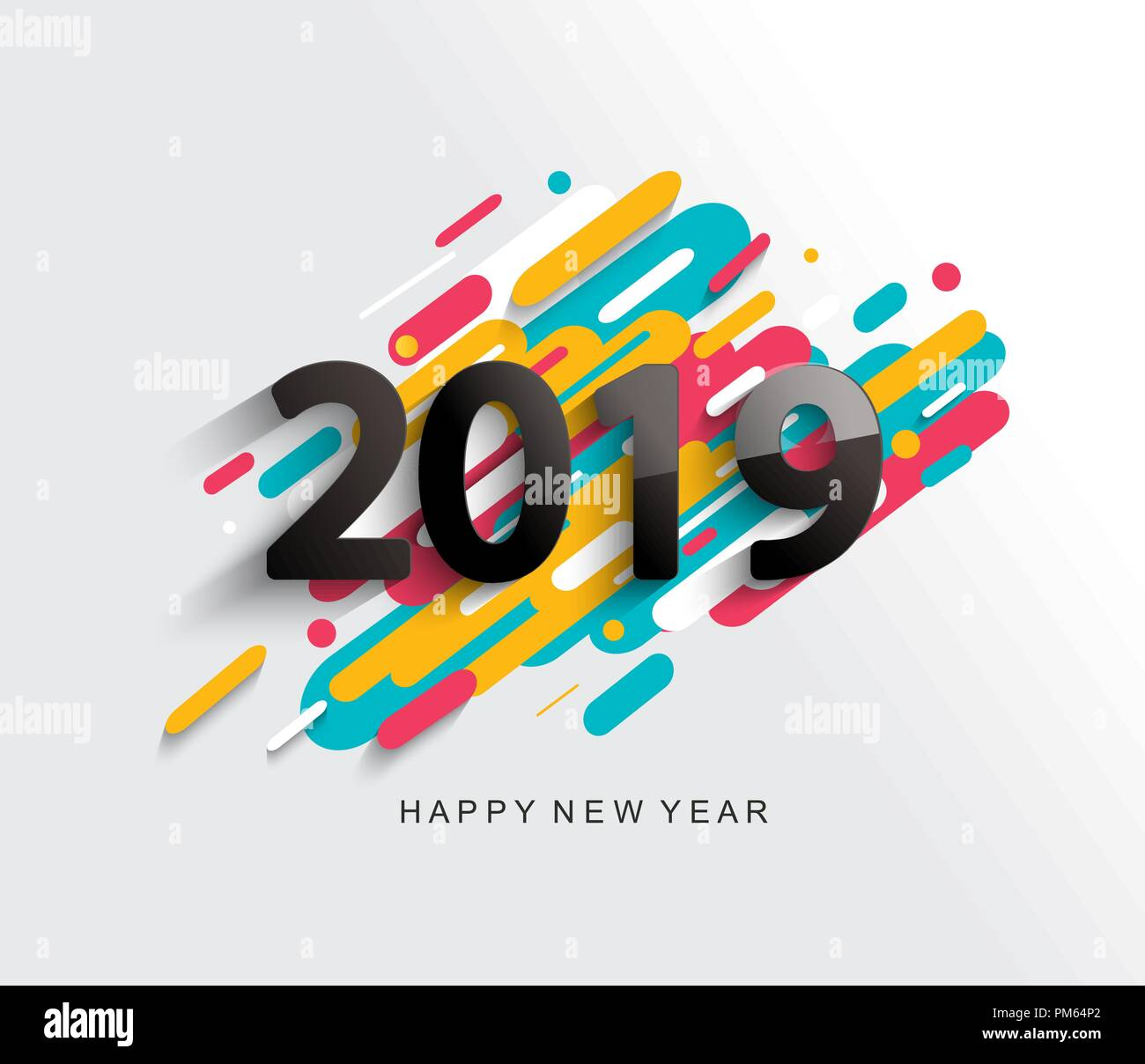 creative happy new year 2019 card on modern background for your seasonal holidays flyers greetings and invitations cards and christmas themed