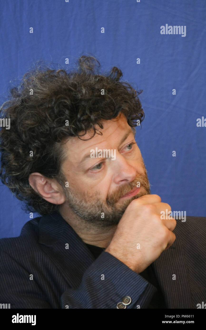 Andy Serkis 'The Adventures of Tintin - The Secret of The Unicorn' Portrait Session, July 11, 2011.  Reproduction by American tabloids is absolutely forbidden. File Reference # 31026_006JRC  For Editorial Use Only -  All Rights Reserved - Stock Image