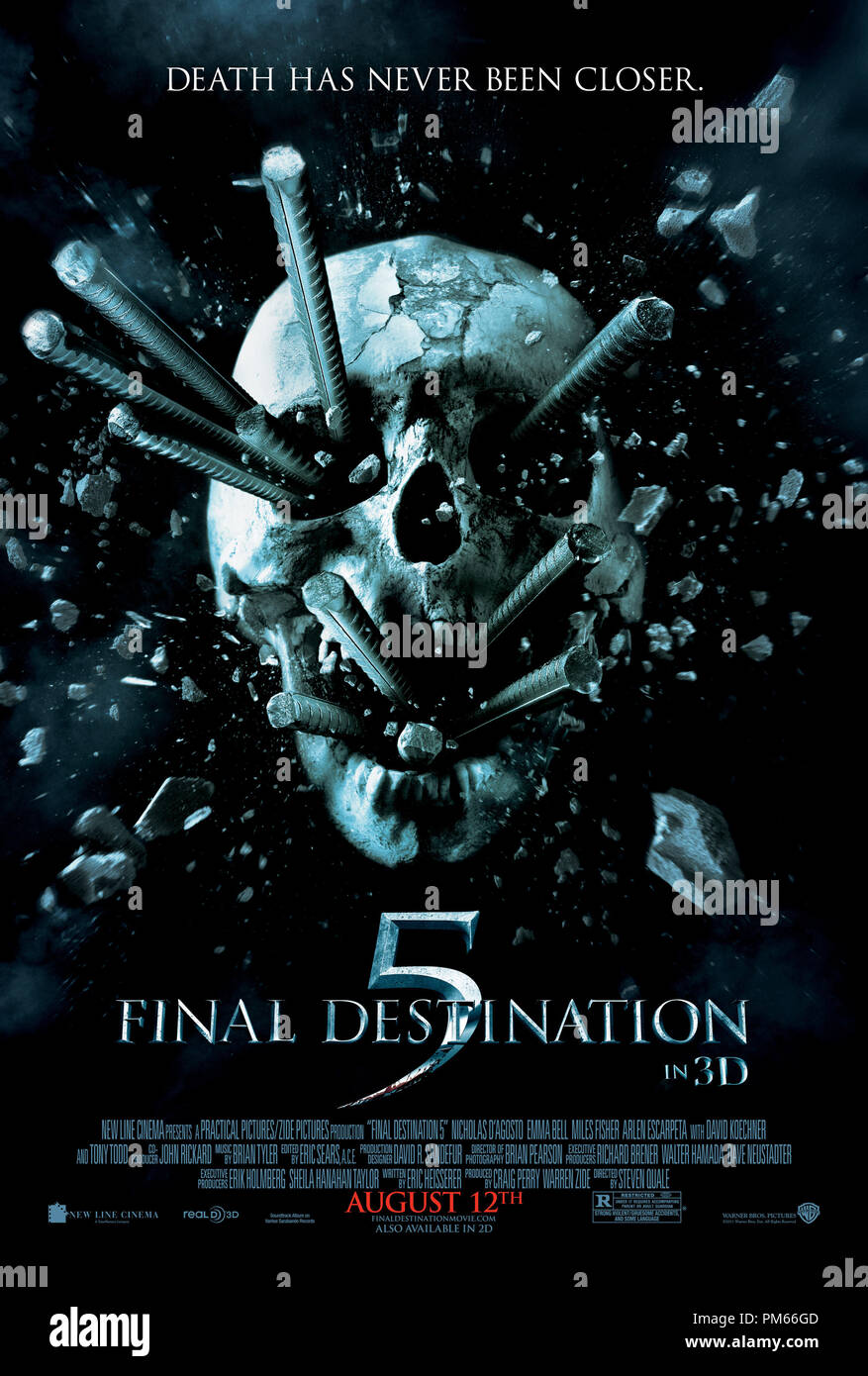 FINAL DESTINATION 5, a Warner Bros. Pictures release.Poster - Stock Image