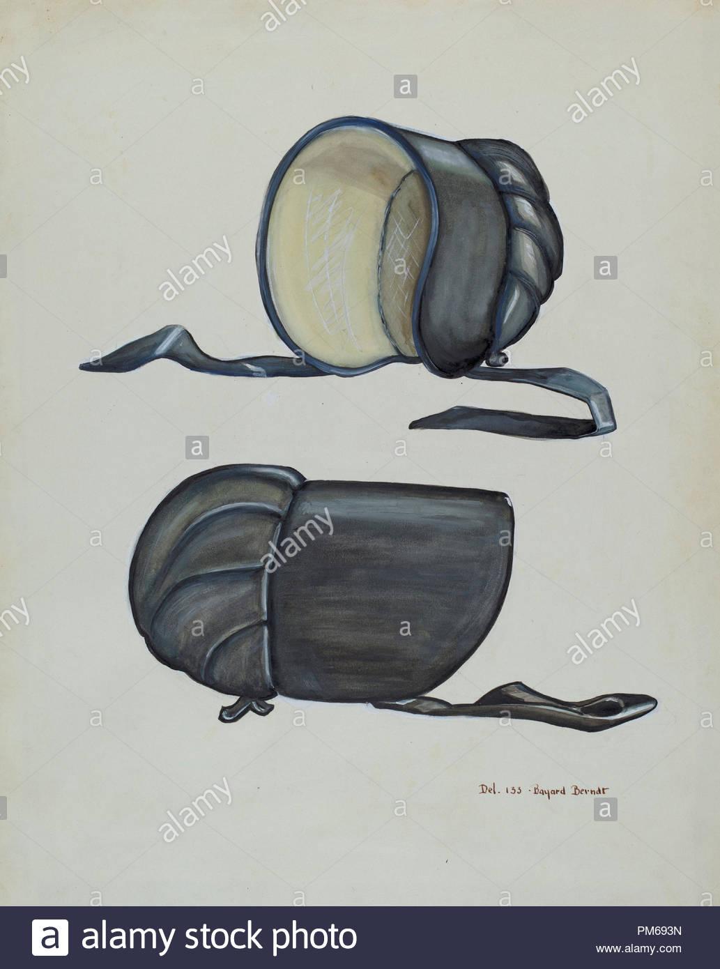 9eb388d497989 Black Silk Bonnet. Dated  c. 1936. Dimensions  overall  34 x 27.1 cm (13  3 8 x 10 11 16 in.). Medium  watercolor