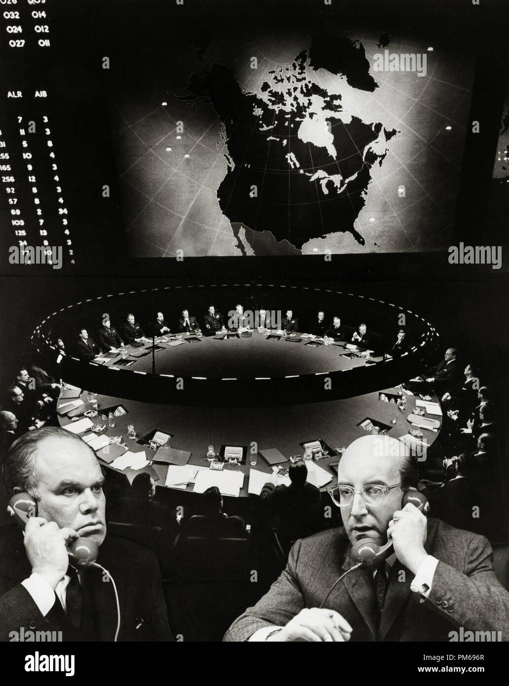Peter Bull and Peter Sellers, 'Dr. Strangelove or: How I Learned to Stop Worrying and Love the Bomb' 1964 Columbia   File Reference # 31316_176THA - Stock Image