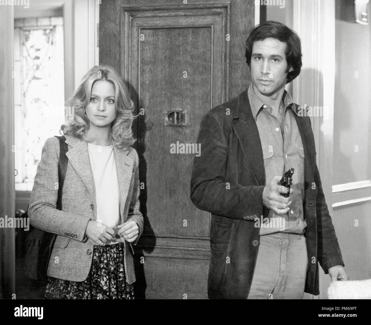 Goldie Hawn and Chevy Chase, 'Foul Play' 1978 Paramount File Reference # 31316_380THA - Stock Image